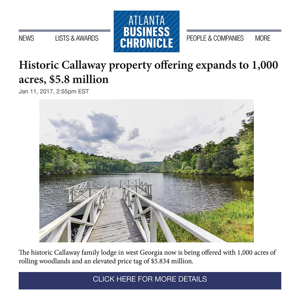 Making Headlines: The Atlanta Business Chronicle featured the latest update to the Lodge at Blue Springs – take a look!